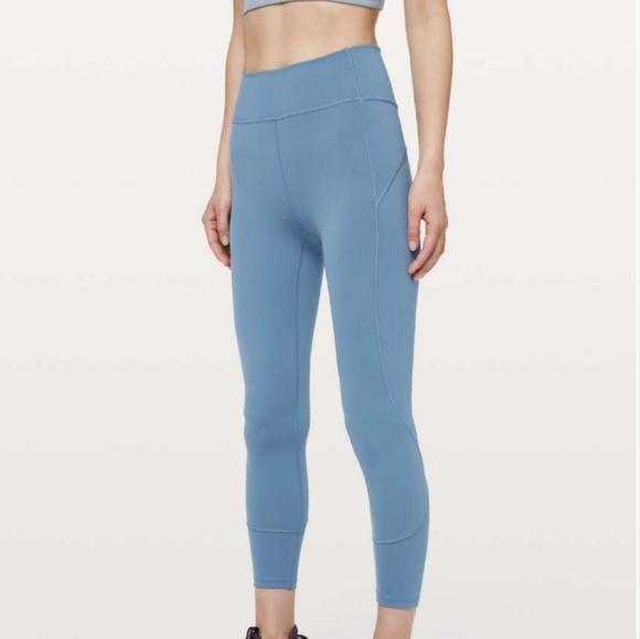 lululemon athletica Pants - Lululemon In Movement 7/8 Tight - Utility Blue